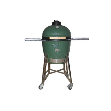 Ceramic Kamado Grill With Stainless Steel Carts
