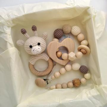 High Quality Wooden Baby Natural Teether