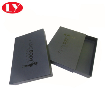 Luxury Matte Black Paper Drawer Gift Box