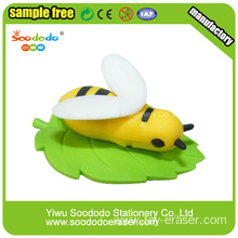 New Product 3D Honeybees Eraser Animal Erasers