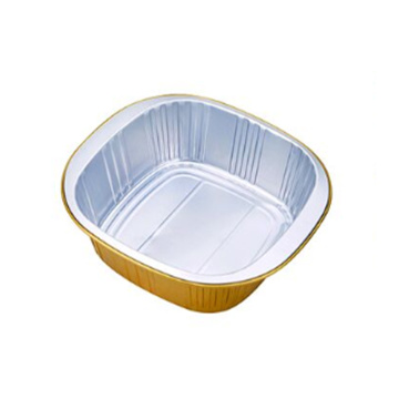 Square deep Disposable Aluminum Foil Tin Container