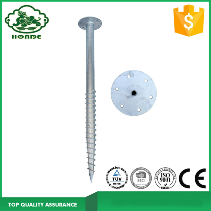 Hot Dipped Ground Screw Post Anchor