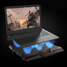 13-17 inch Gaming Laptop Cooler Six Fan Led Screen Two USB Port 2600RPM Laptop Cooling Pad Notebook Stand for Laptop