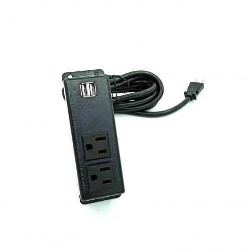 2 Sockets Surface Power Outlet with 2 USB