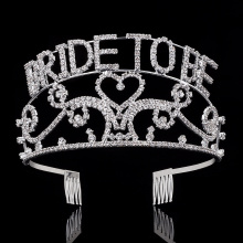 "2017 The theme ""Bride to be"" Tiaras"