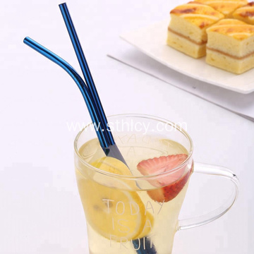Stainless Steel Colorful Straws With Pouch Bag Package