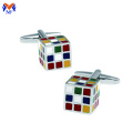 Metal brand dice cufflink for mens shirts