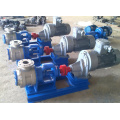 High viscosity heated jacket internal gear oil pump