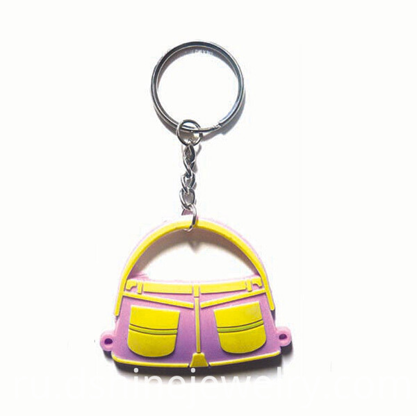Soft Plastic Rubber Customizable Keychains