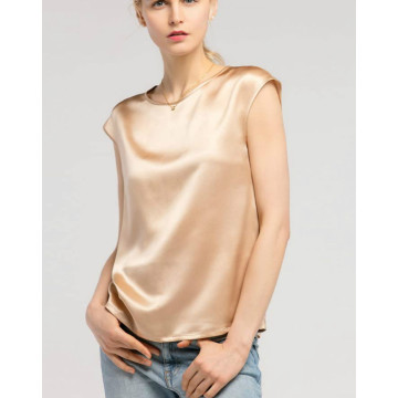 Summer Cool Comfy Charmeuse Silk Tops for Ladies