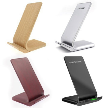 Wood Grain 10W Fast Wireless Charger Stand