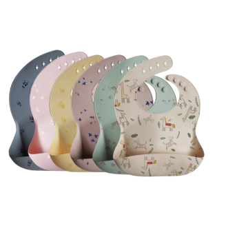 100% Food Grade Custom Pattern Silicone Baby Bib