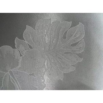 satin jacquard weave flower custom design fabric