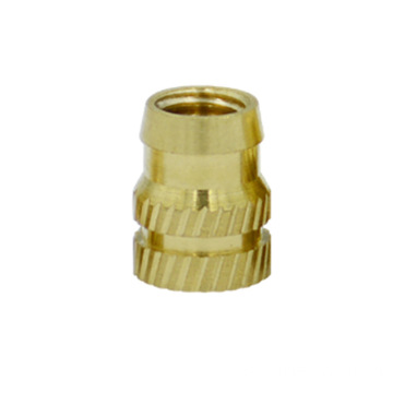 M6 hot compressed knurled  brass insert nut