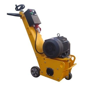 Portable asphalt road milling machine with electric motor