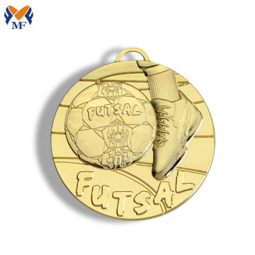 Wholesale metal gold futsal medals