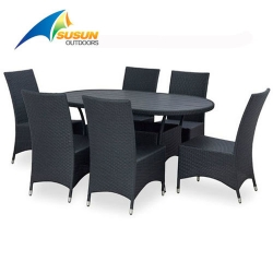 wicker garden dining set