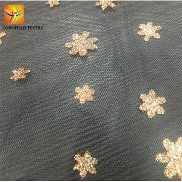 High quality decorated tulle mesh fabric customized design