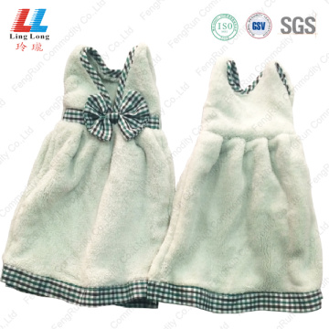 Microfiber Hand drying bowknot towel