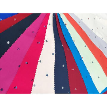 Cotton Stretch Plain Pigment Printed Fabric