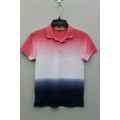 Boy's 100% Cotton Knitted Hang Dyed Polo