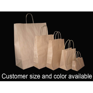 Wholesale Brown Paper Gift Bags