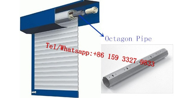 PU Shutter Door Steel Octagon Pipe