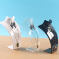 Plastic Mannequin Bust Necklace Display Rack Jewelry Display Stand Organizer Holder Top Quality Jewelry Display Necklace Stand