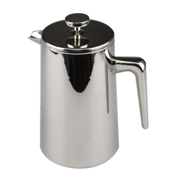 Double Wall Stainless Steel Mirror Finish Coffee Maker