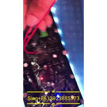 flexible column LED Display with Soft Silicon frame