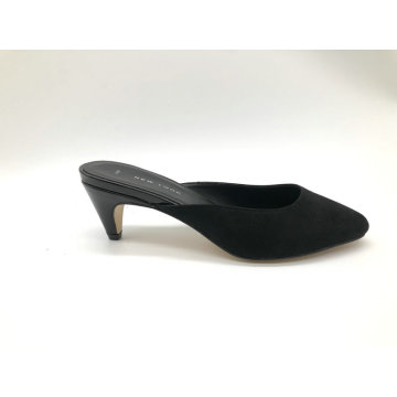 Ladies  fashion low heel mule shoe
