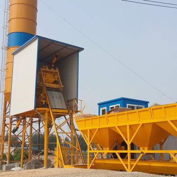 Advanced electrical 75m3 mobile concrete batching plant