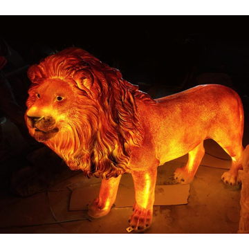 Simulation Luminous  Male Lion Lights