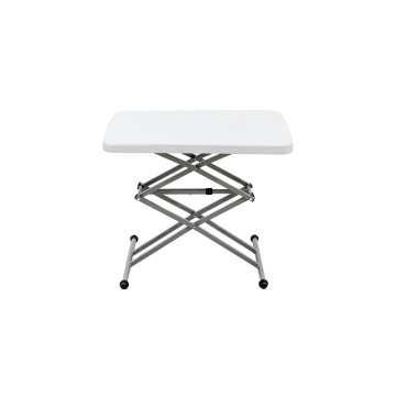 Waterproof White Plastic Folding Dining Table That Folds