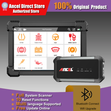 ANCEL X7 Full System OBD2 Scanner IMMO BMS EPB ABS Oil Reset OBD2 Code Reader For Engine Multi-language Professional Car Scanner