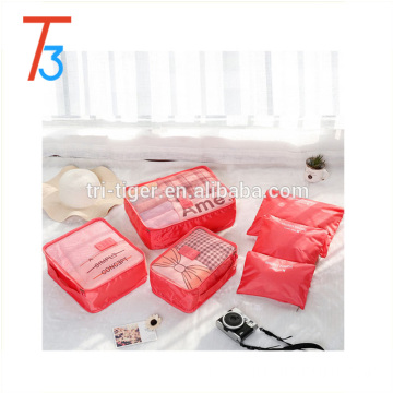 6pcs/set packing cube cosmetic travel bag set for business gift project