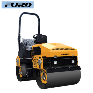 Vibration Type Smooth Wheel Tandem Road Roller for Soil Compaction