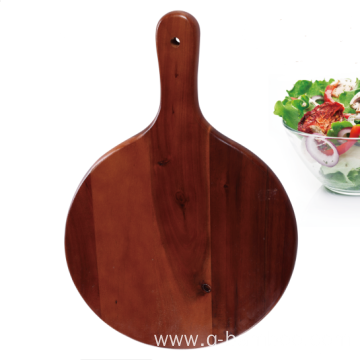 Round shape cutting board with handle