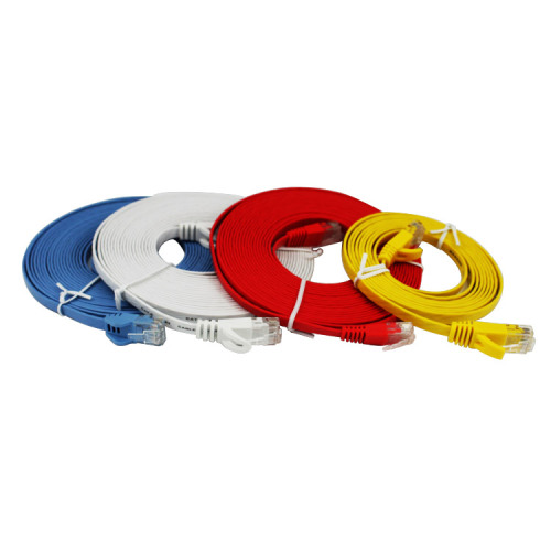 Cat5e Cat6 Flat Ethernet Cable With Snagless RJ45