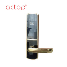 Smart hotel door lock handle