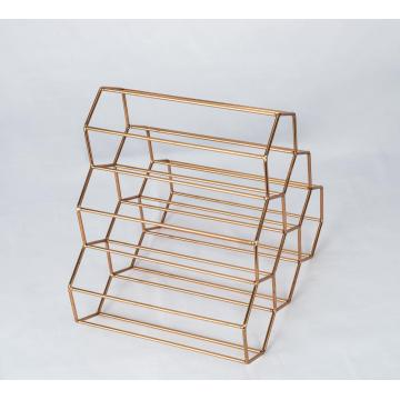 Metal Material 6 Bottles Iron Wire Wine Racks