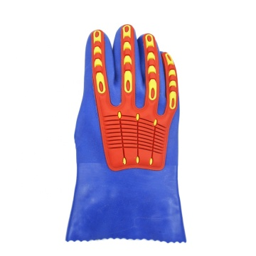 Blue TPR Impact resistant gloves