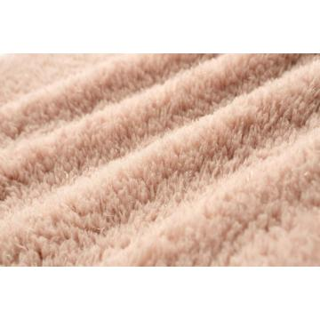 SOFT CORAL FLEECE FABRIC