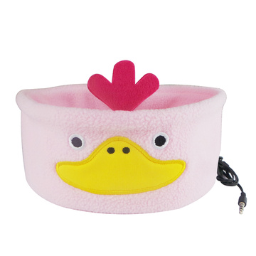 Cartoon Duck Pink Anime Wired Auricolare Cuffie per dormire