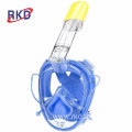 Anti-fog 180 degree view snorkel silicone mask