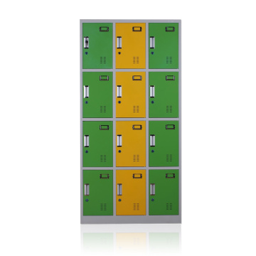 12 doors steel storage locker