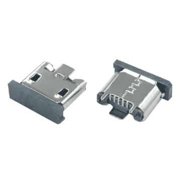 Micro USB 5P Receptacle Vertical SMT