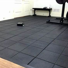 Heavy duty gym rubber flooring tile used