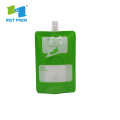 Flexible Liquid Packaging Stand Up Pouch With Spout