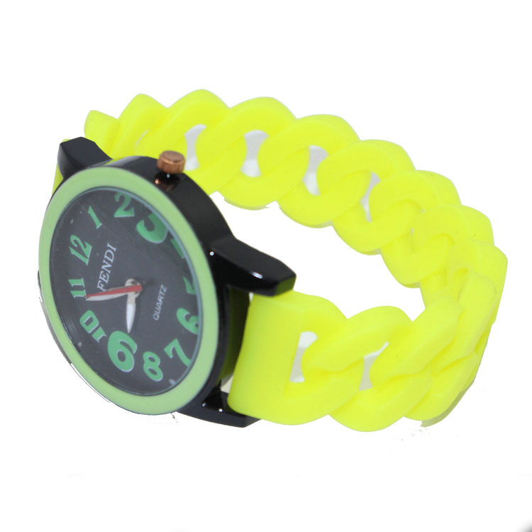 2016 New Korean Style Girls Silicone Strap Wristwatches